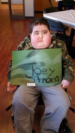 Joey strong Handmade placemats from local elementary school