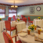 formal dining room at Addison Healthcare Center