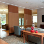 a living room area at Bridgeport Healthcare Center