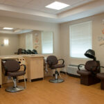 a hair salon and spa at Bridgeport Healthcare Center