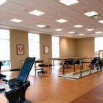 A senior rehabilitation gym at Bridgeport Healthcare Center