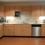 An occupational therapy kitchen at Bridgeport Healthcare Center