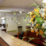 close up of bouquet of flowers at Clifton Healthcare Center