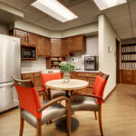 a kitchenette at Evergreen Crossing & Loft