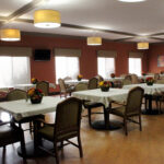 formal dining room at Columbus Healthcare Center