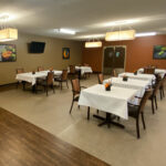 upscale dining room at Salem North Healthcare Center
