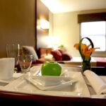 A room service tray at Copley Health Center