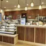 a grab and go bistro at Evergreen Crossing & Loft