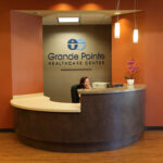 Front desk area for Grande Pointe Healthcare Community