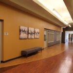 senior rehabilitation hallway at Grande Pointe Healthcare Community