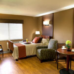 a Greenbriar Center single bed patient room