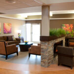 a waiting area at Greenbriar Center