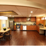 a kitchenette at Northwestern Healthcare Center
