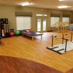 a senior rehabilitation gym at Pebble Creek Healthcare Center