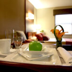 a room service set up at Pebble Creek Healthcare Center