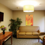a waiting room for Pebble Creek Healthcare Center