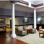 A lobby at Pebble Creek Healthcare Center