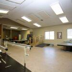 senior rehabilitation gym at Sellersburg Healthcare Center