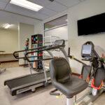 senior rehabilitation gym at Evergreen Crossing & Loft
