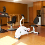 senior rehabilitation gym at Riverside Healthcare Center
