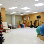 a senior rehabilitation gym at South River Healthcare Center