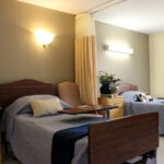 single bed patient room at Wood Glen Alzheimer's Community