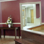 front desk area and waiting room