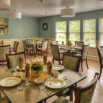 The dining room of the Austintown Healthcare Center