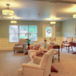 a sitting room at the Austintown Healthcare Center