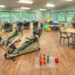 A senior fitness room at the Austintown Healthcare Center