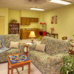 Game room and lounge area at Canfield Healthcare Center