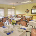 formal dining room at Canfield Healthcare Center