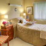 Single patient bedroom at Canfield Healthcare Center