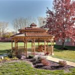 An outside gazebo in a courtyard at Greenfield Healthcare Center