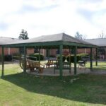 outside courtyard and patio at Indian Creek Healthcare Center