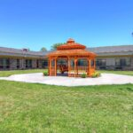 courtyard gazebo at Great Lakes Healthcare Center