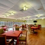 A dining room at Greenfield Healthcare Center