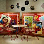 a musical themed Kokomo Healthcare Center dining room