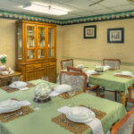 formal dining room at Dixon Healthcare Center