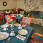 formal dining room at Evergreen Healthcare Center