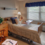 single patient bedroom at Evergreen Healthcare Center