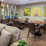 lounge area at Forestville Healthcare Center