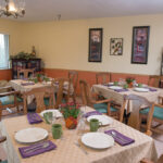 a dining room at Grande Lake Healthcare Center
