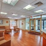 The front lobby at the Greenfield Healthcare Center