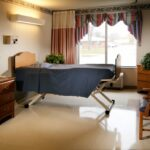 A single patient room at Kokomo Healthcare Center