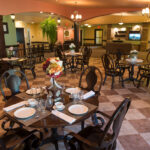 formal dining room at The Pines Healthcare Center