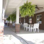 outside porch at senior rehabilitation gym at Sellersburg Healthcare Center