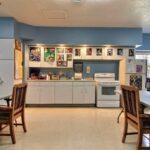kitchenette and dining tables at Valley View Healthcare Center