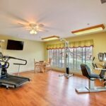 The state-of-the-art rehabilitation gym at Greenfield Healthcare Center