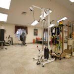 senior rehabilitation gym at Harrison Healthcare Center